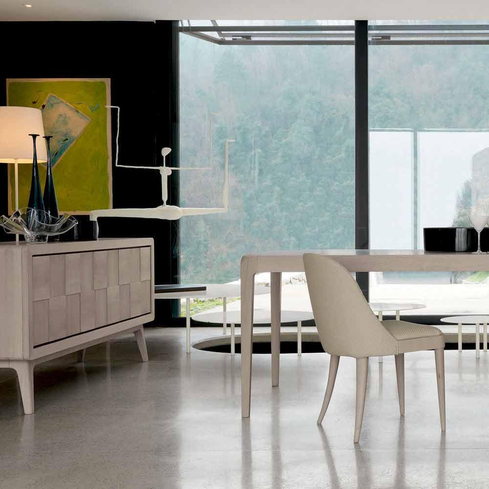 Credenza con 3 ante in legno massello design moderno nensi for Design moderno di mobili in legno massello