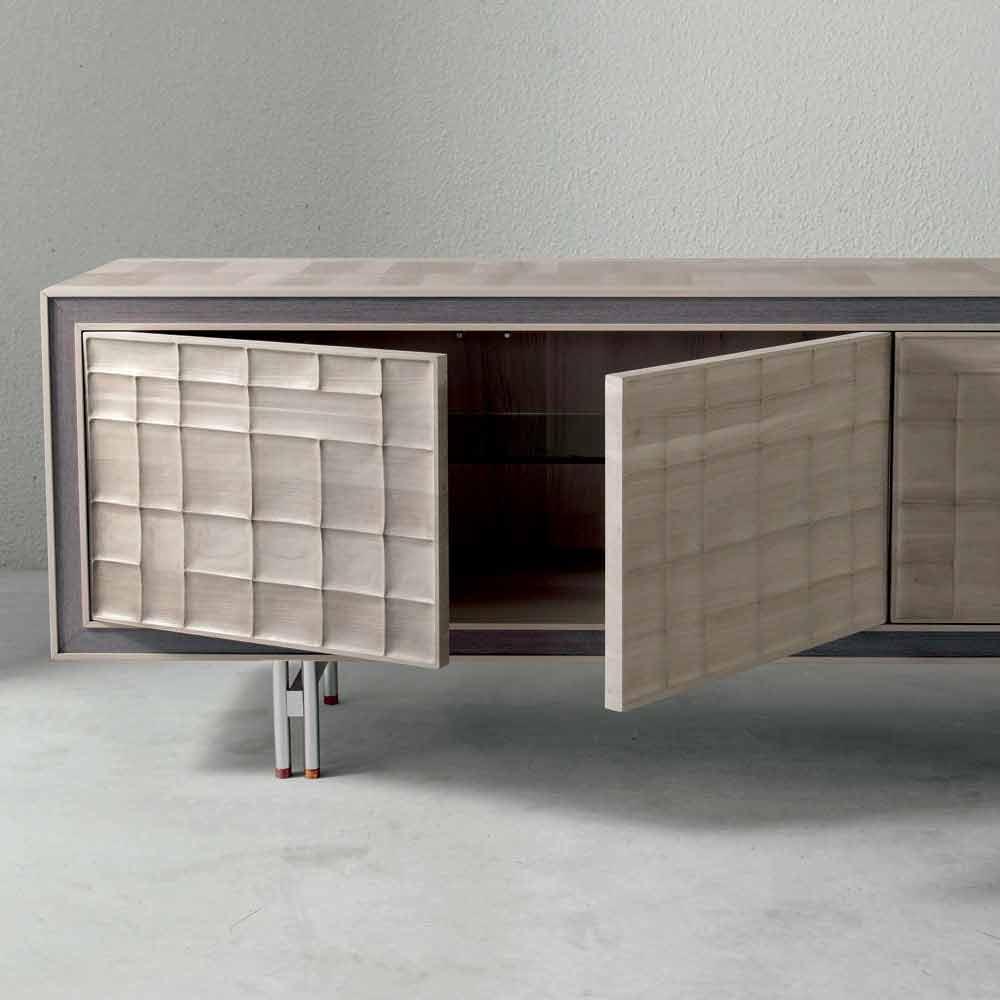 Credenza Moderna Design Maggie : Credenza moderna con ante in legno massello anna
