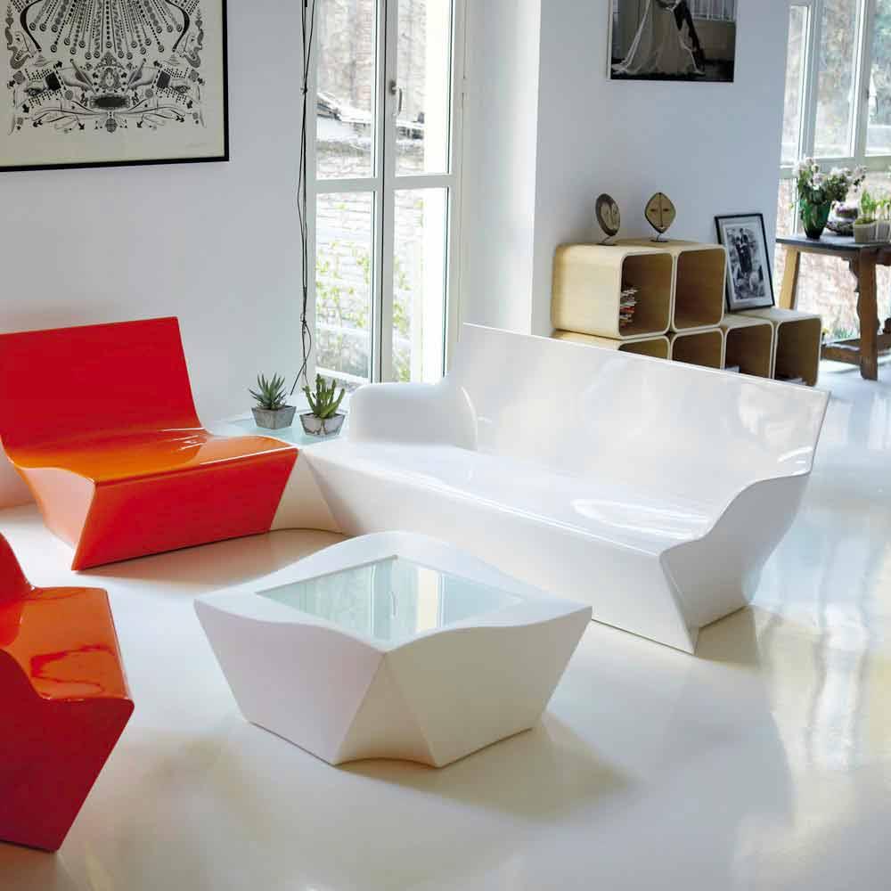 Divano da esterno moderno colorato slide kami yon made in italy - Divano fatto con materassi ...