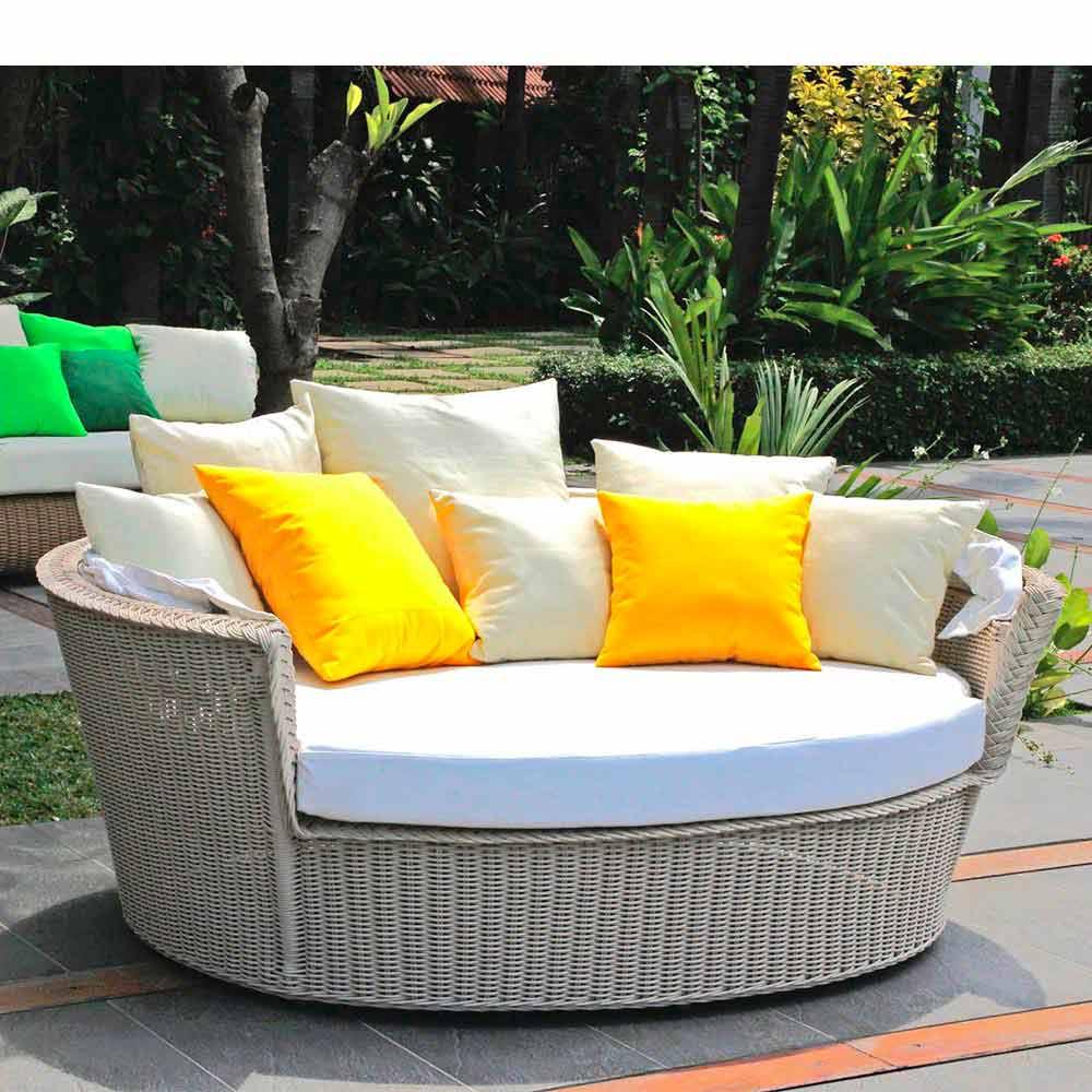 Divano isola relax a forma di cesto con intreccio fatto a - Dimensioni divano con isola ...