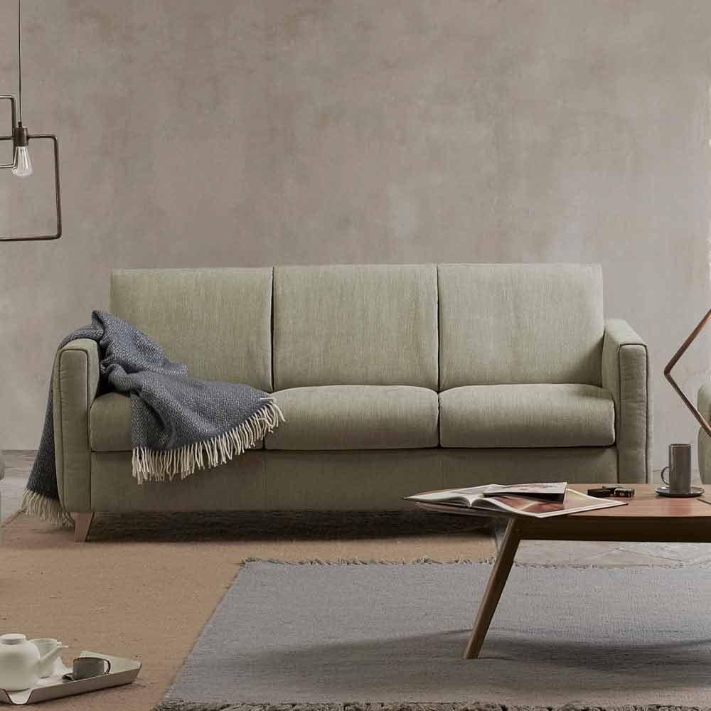 Divano letto di moderno design in tessuto prodotto in Italia Filippo