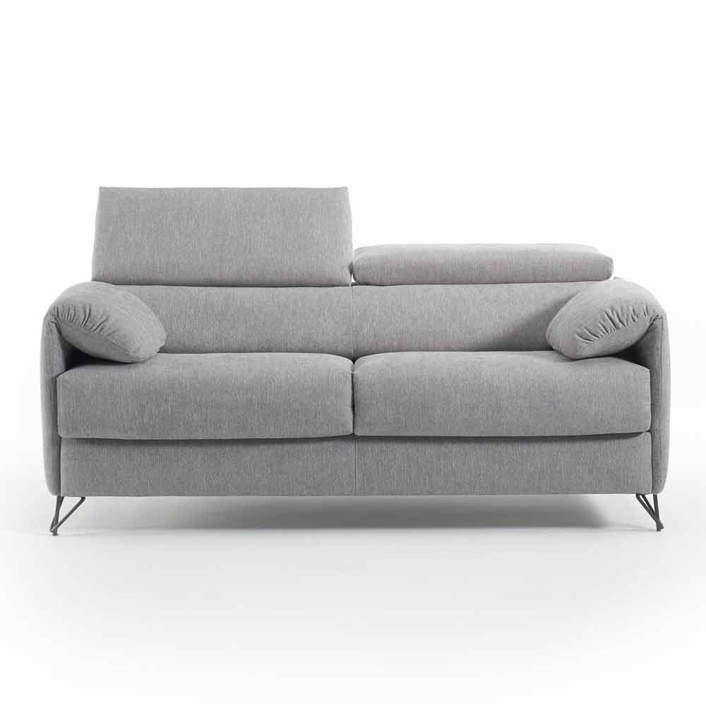 Divano letto di design in tessuto sfoderabile fatto in italia vittorio - Divano letto in tessuto ...