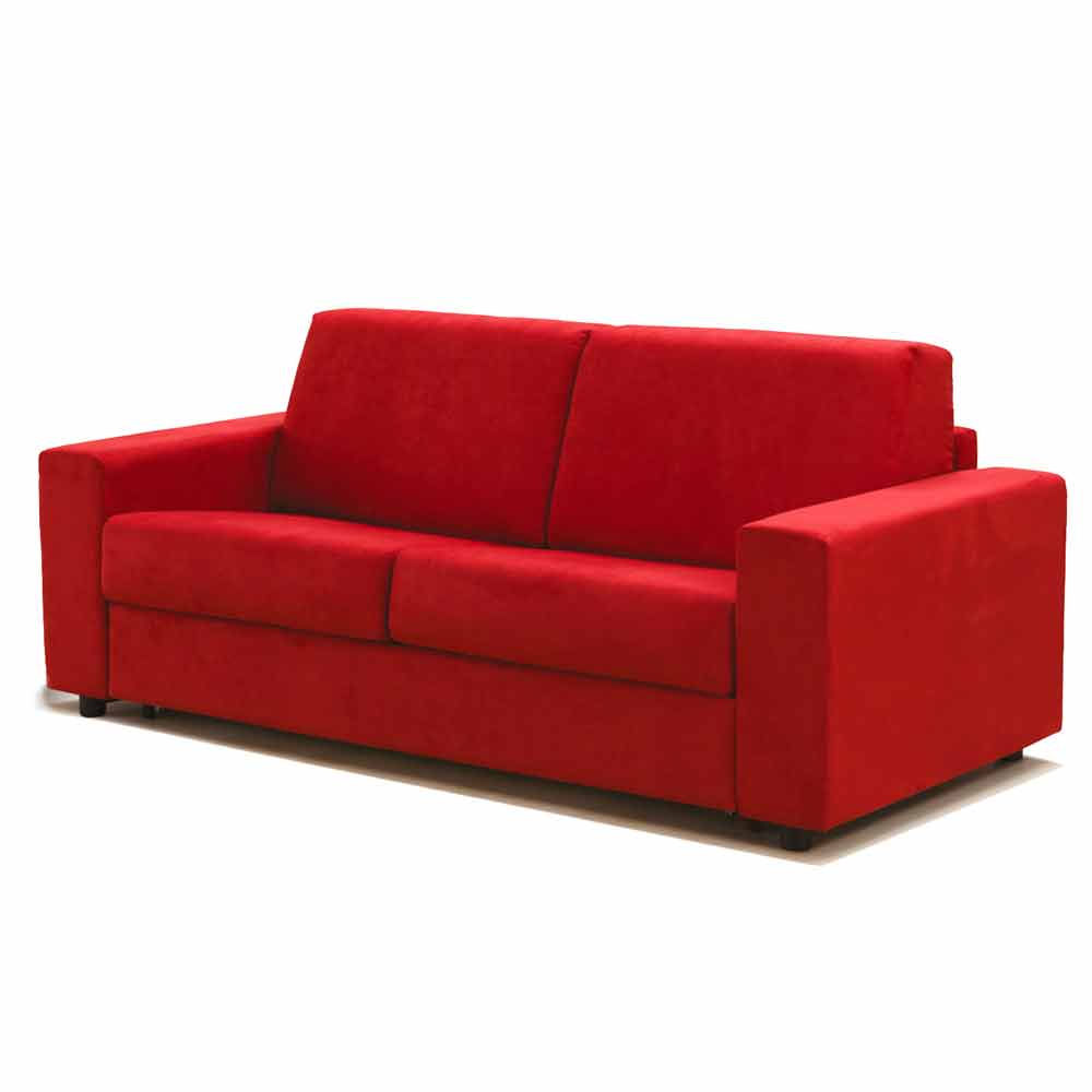 Divano tre posti design moderno in ecopelle tessuto made - Misure divano tre posti ...