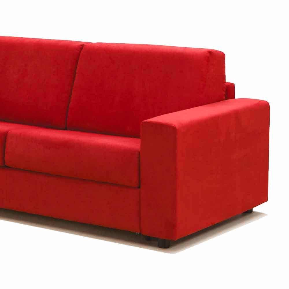 Divano tre posti design moderno in ecopelle tessuto made in italy mora - Divano tre posti ecopelle ...
