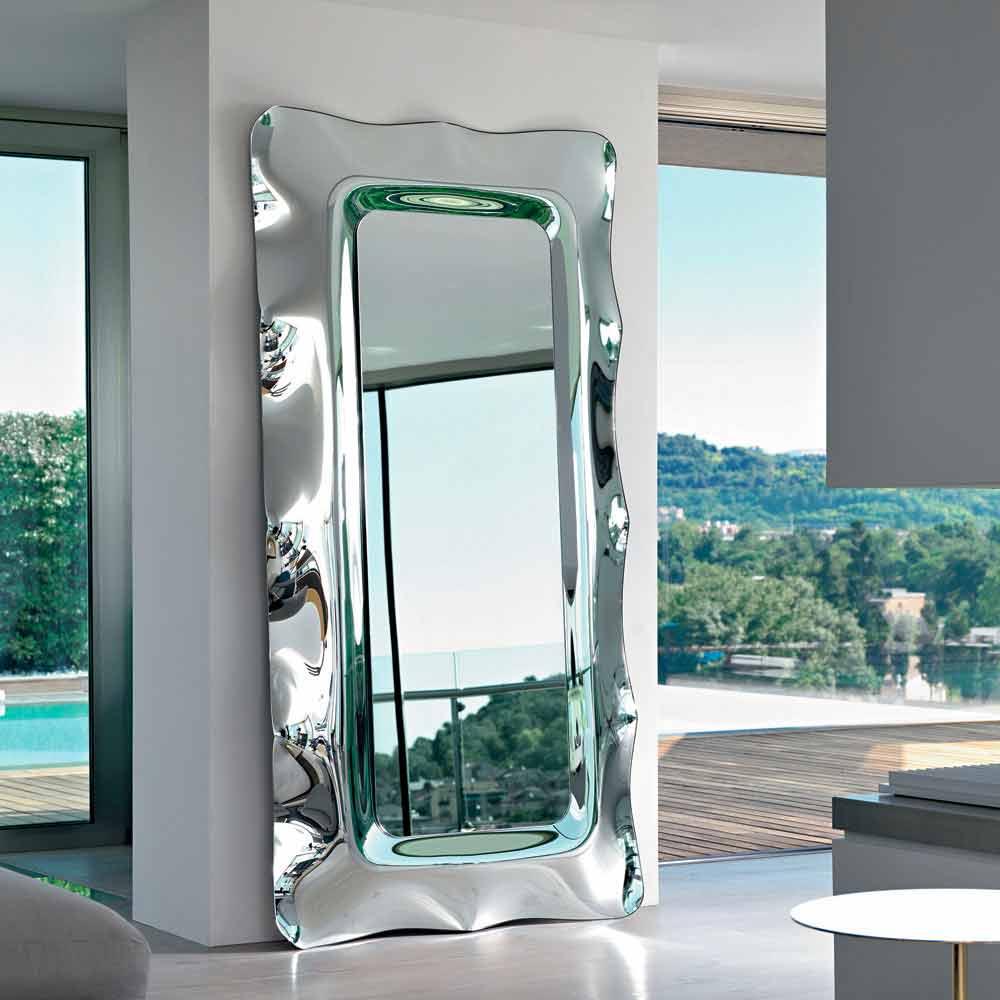 Fiam italia dorian specchio da terra muro 202x105cm made in italy - Specchio da terra ...