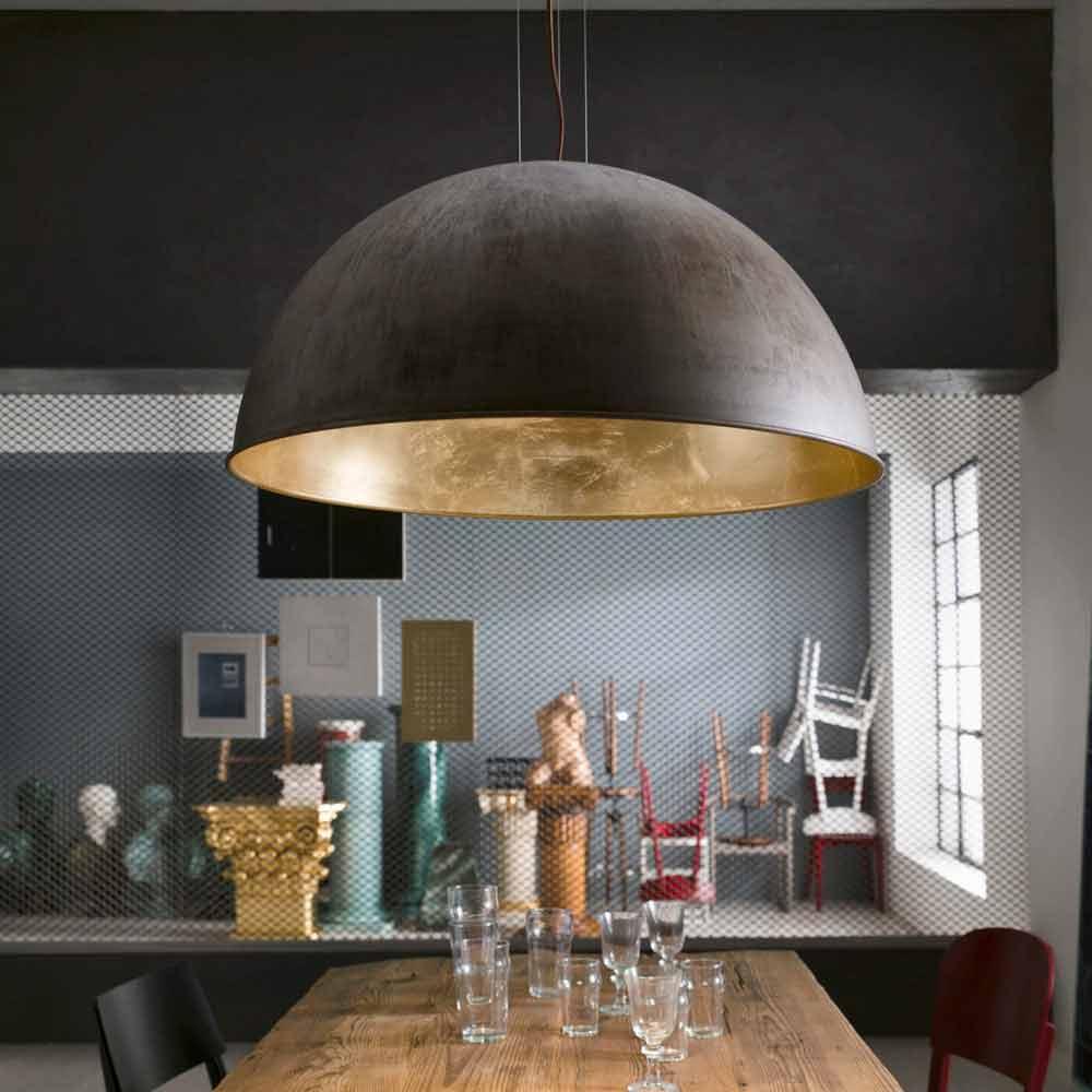 Lampada a sospensione design rustico 60 cm galileo il fanale - Lampada sospensione design ...