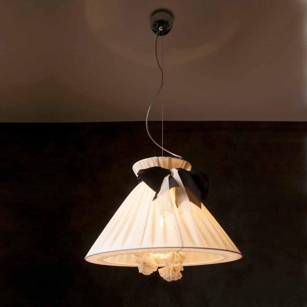 Lampada a sospensione design vintage in seta chanel