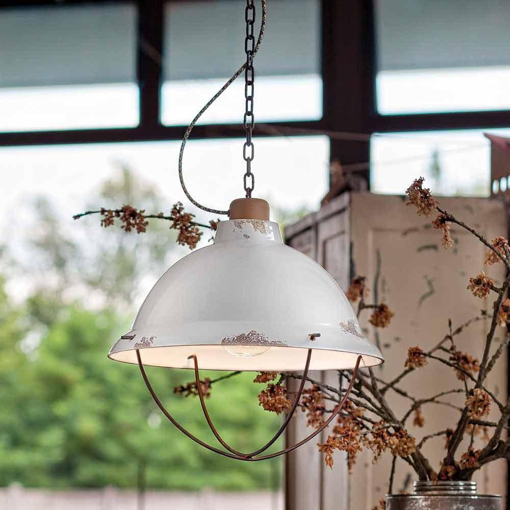 Lampada a sospensione di design industriale artigianale clara - Lampada di design ...