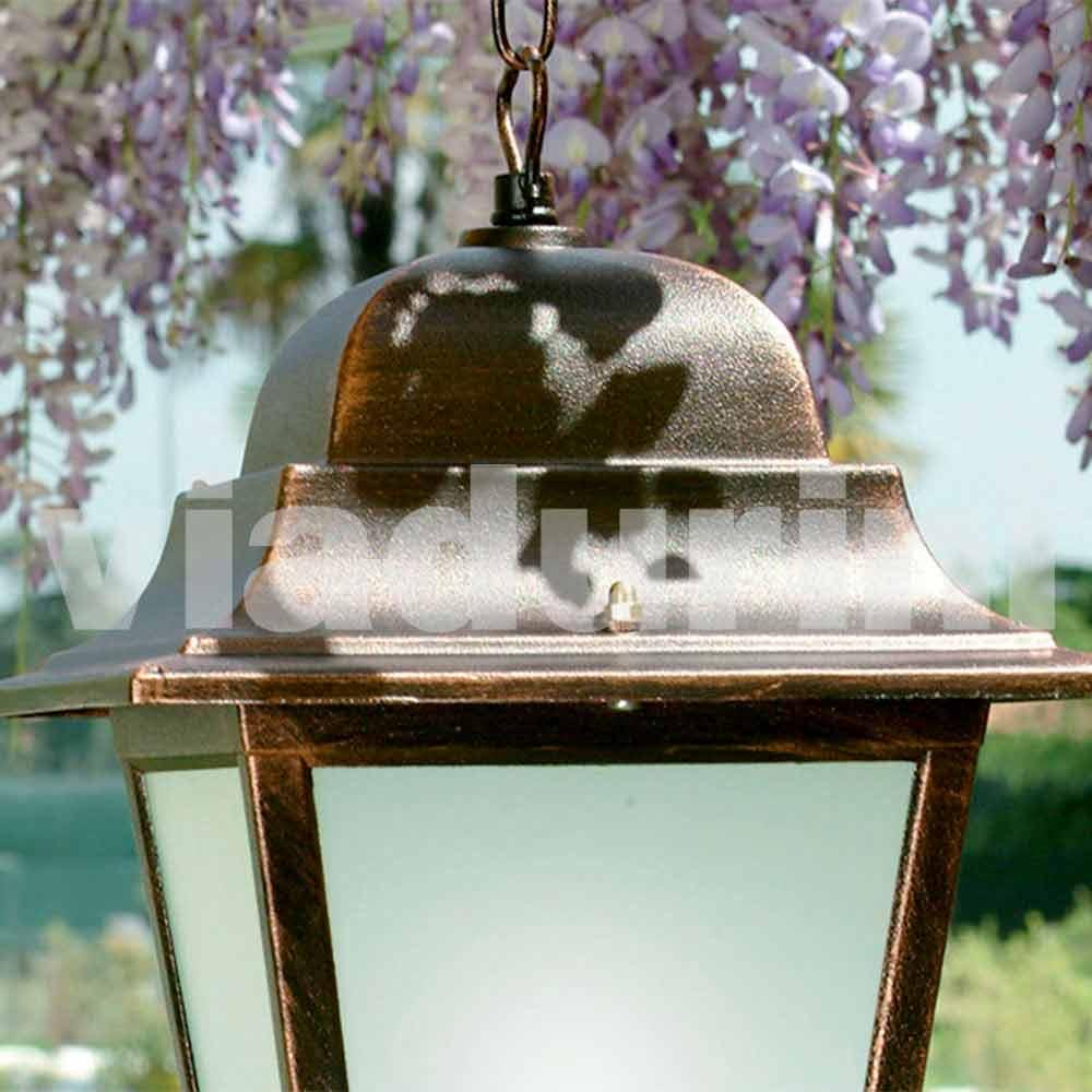 Lampade Per Porticati Esterni lampada a sospensione per esterno in alluminio made in italy, aquilina