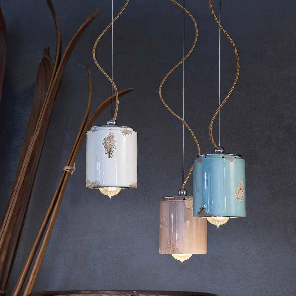 Lampada a sospensione vintage artigianale ferroluce for Lampade a sospensione