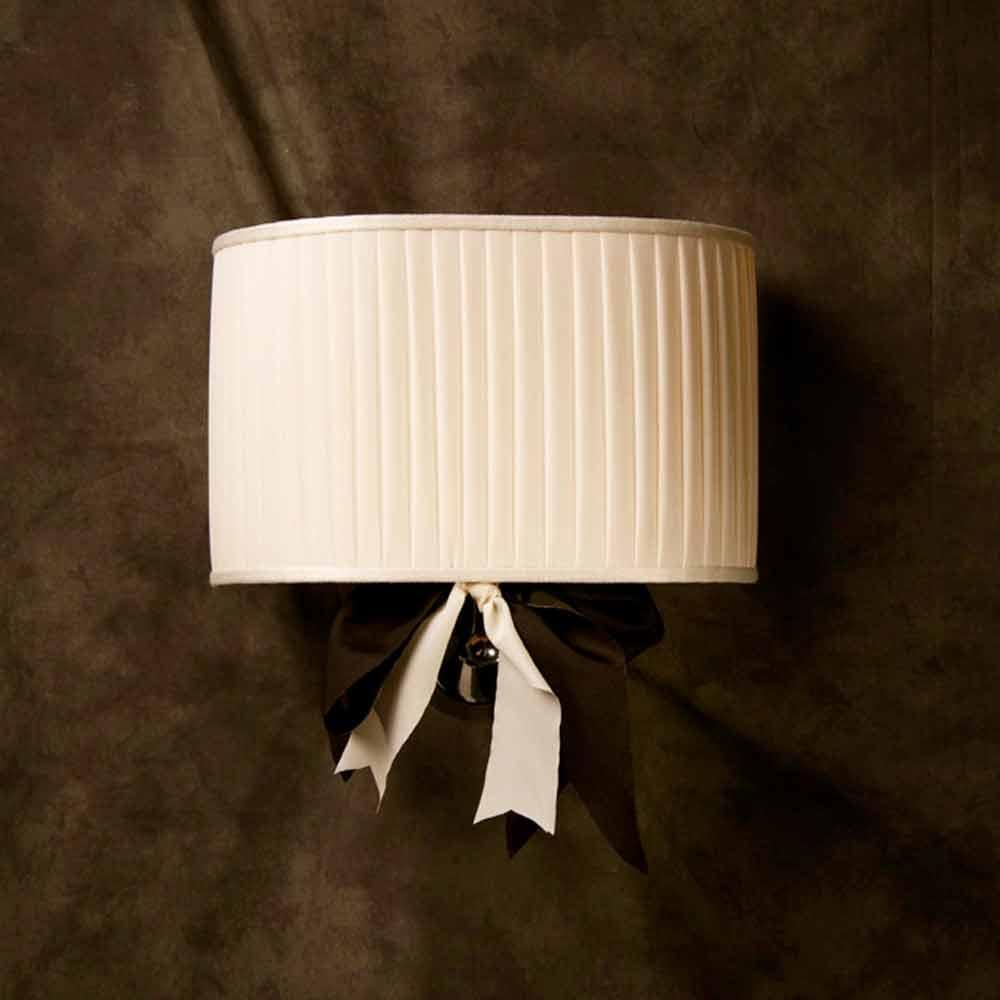 Lampada da parete design vintage Chanel, in seta color avorio