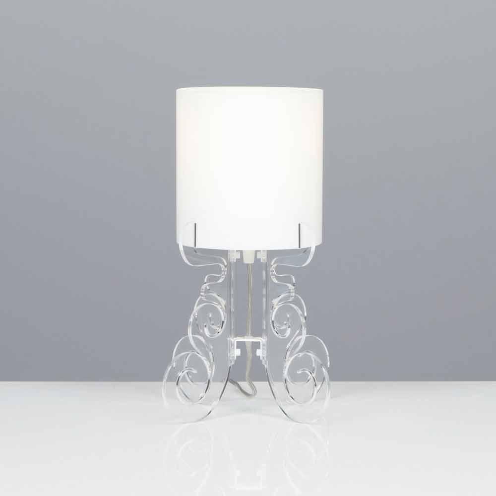 Lampada da tavolo con paralume cilindrico, diametro 18,5 cm, Samanta