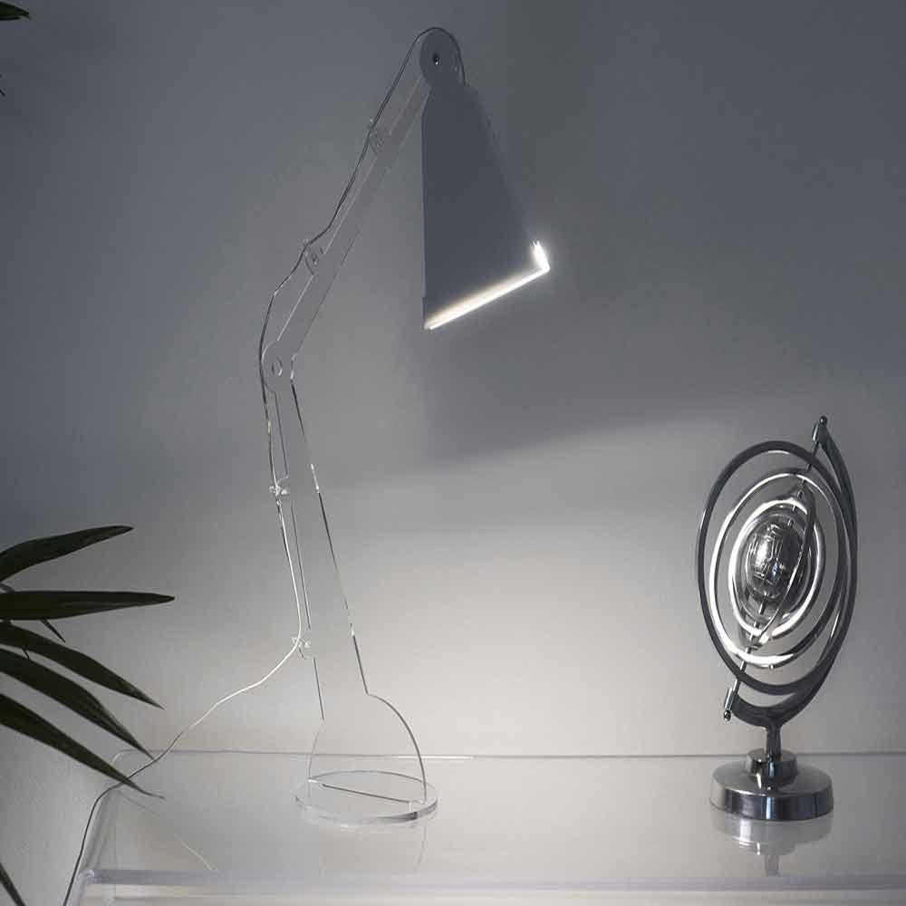 Lampada In Tecno Style Con Luce Da Led Da Tavolo Lettura Flero