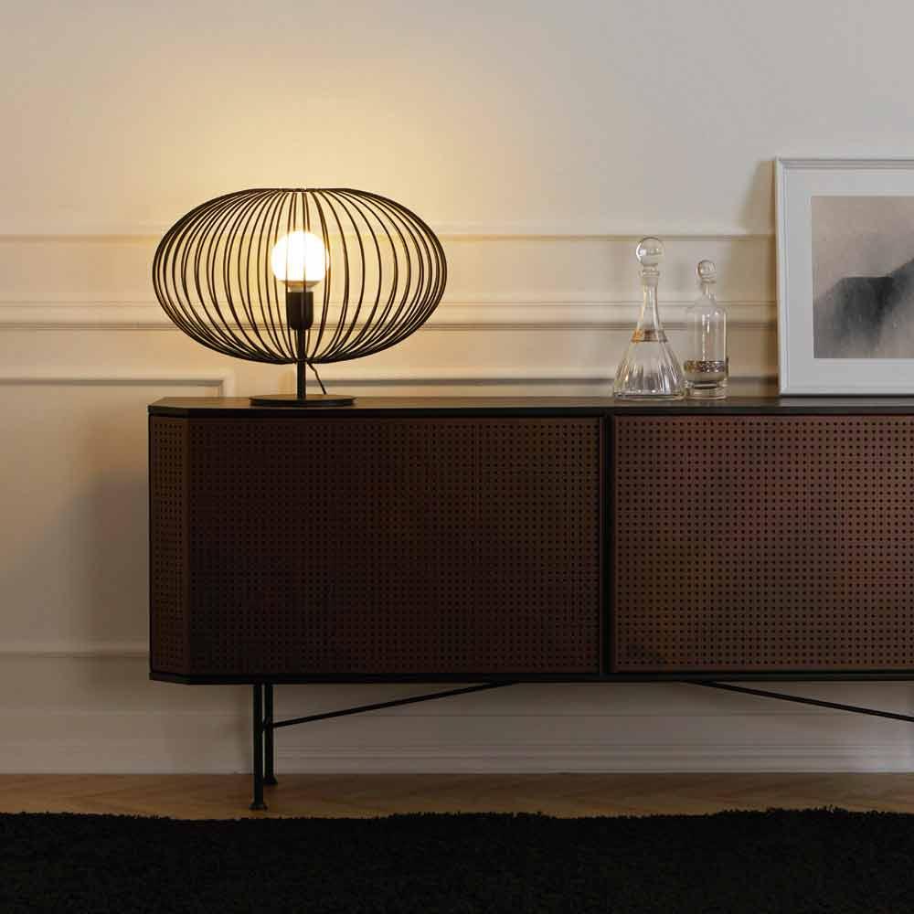 Lampada da tavolo moderna in acciaio verniciato 48xh35 cm gabriella - Lampada moderna da tavolo ...