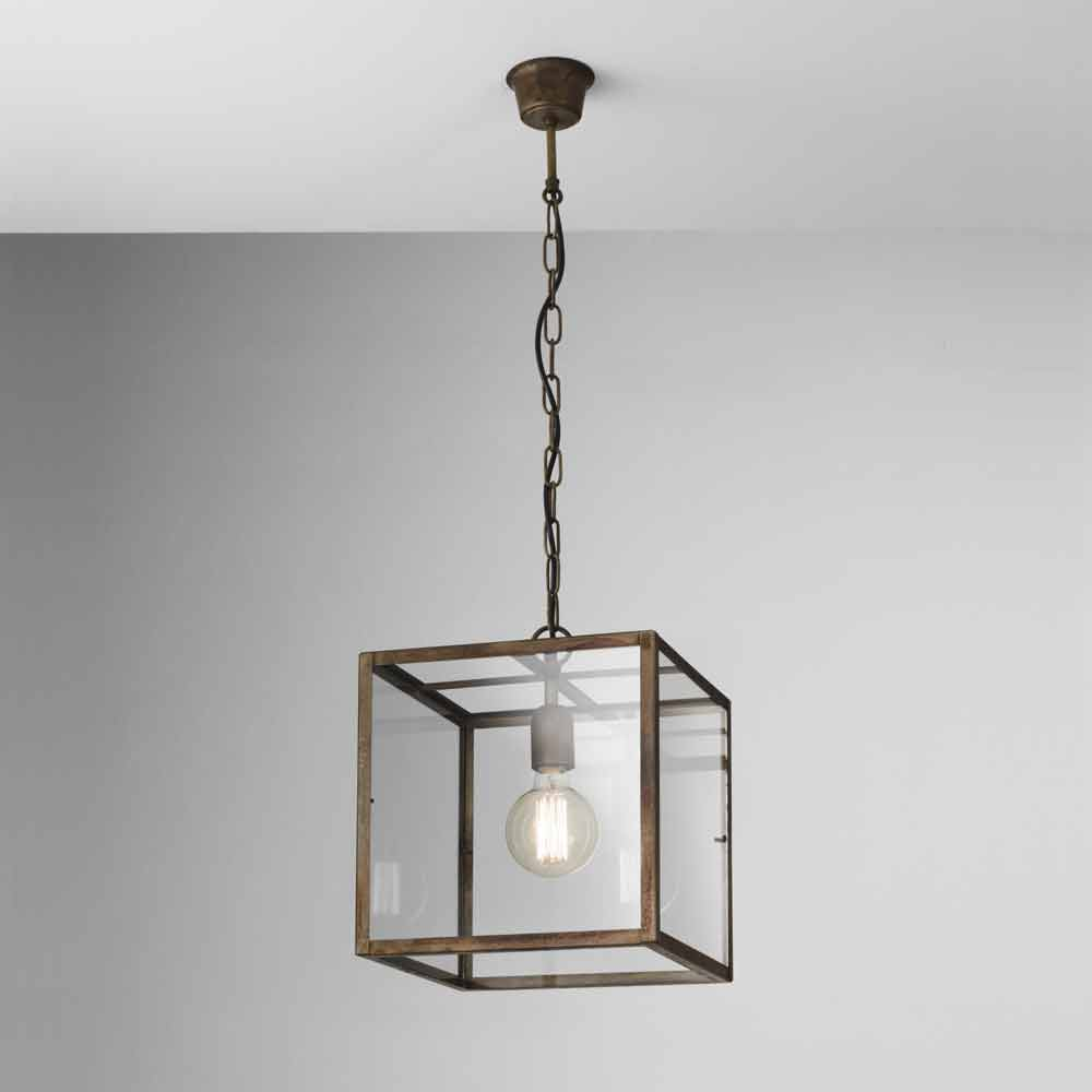 Lampada industriale a sospensione in ferro london il fanale for Lampade a sospensione