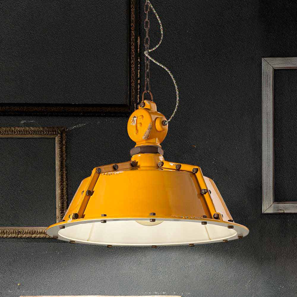 Lampadario stile industriale vintage a campana jillian for Lampadario vintage