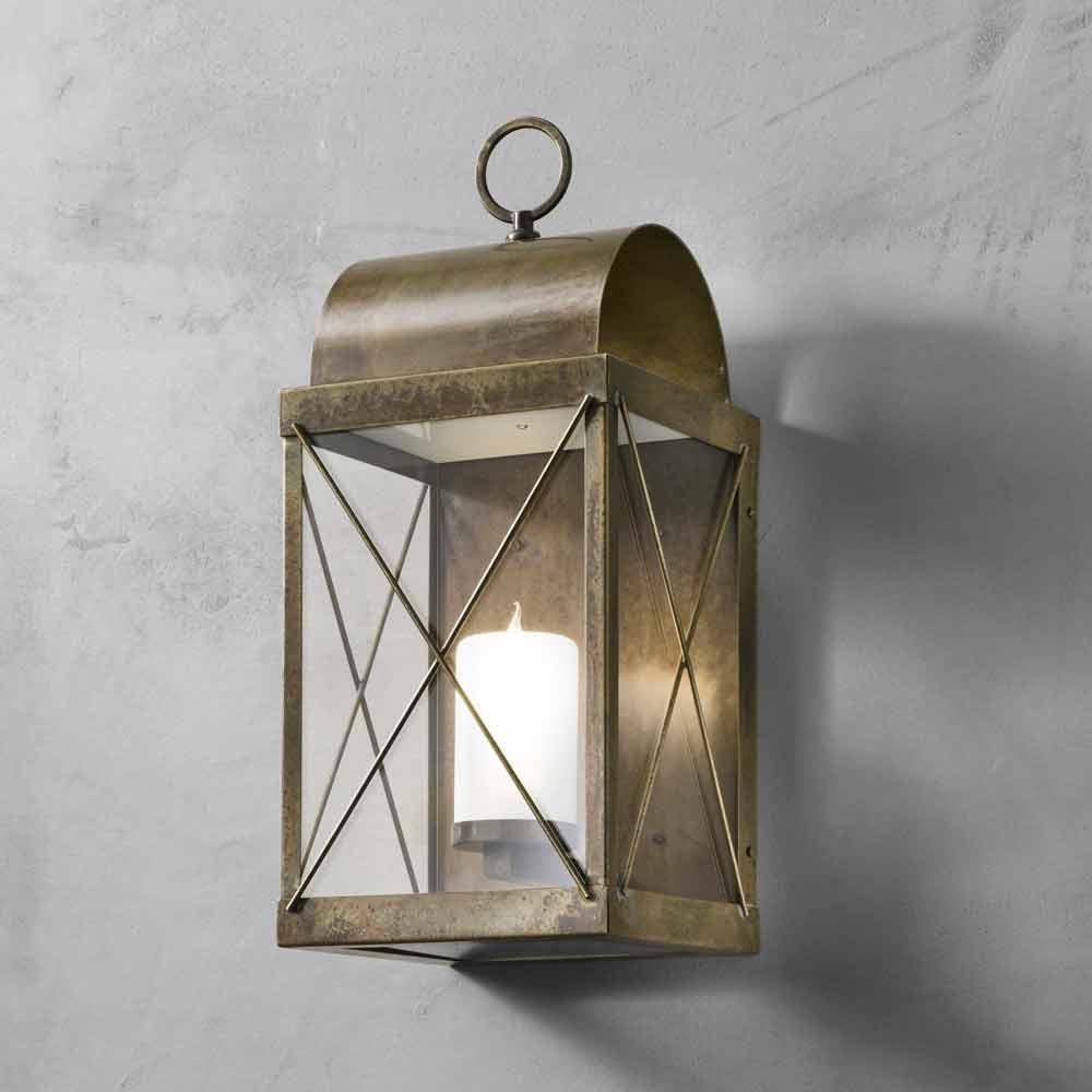 Lanterna piccola da esterno in ferro o ottone il fanale - Lanterne da esterno in ferro battuto ...