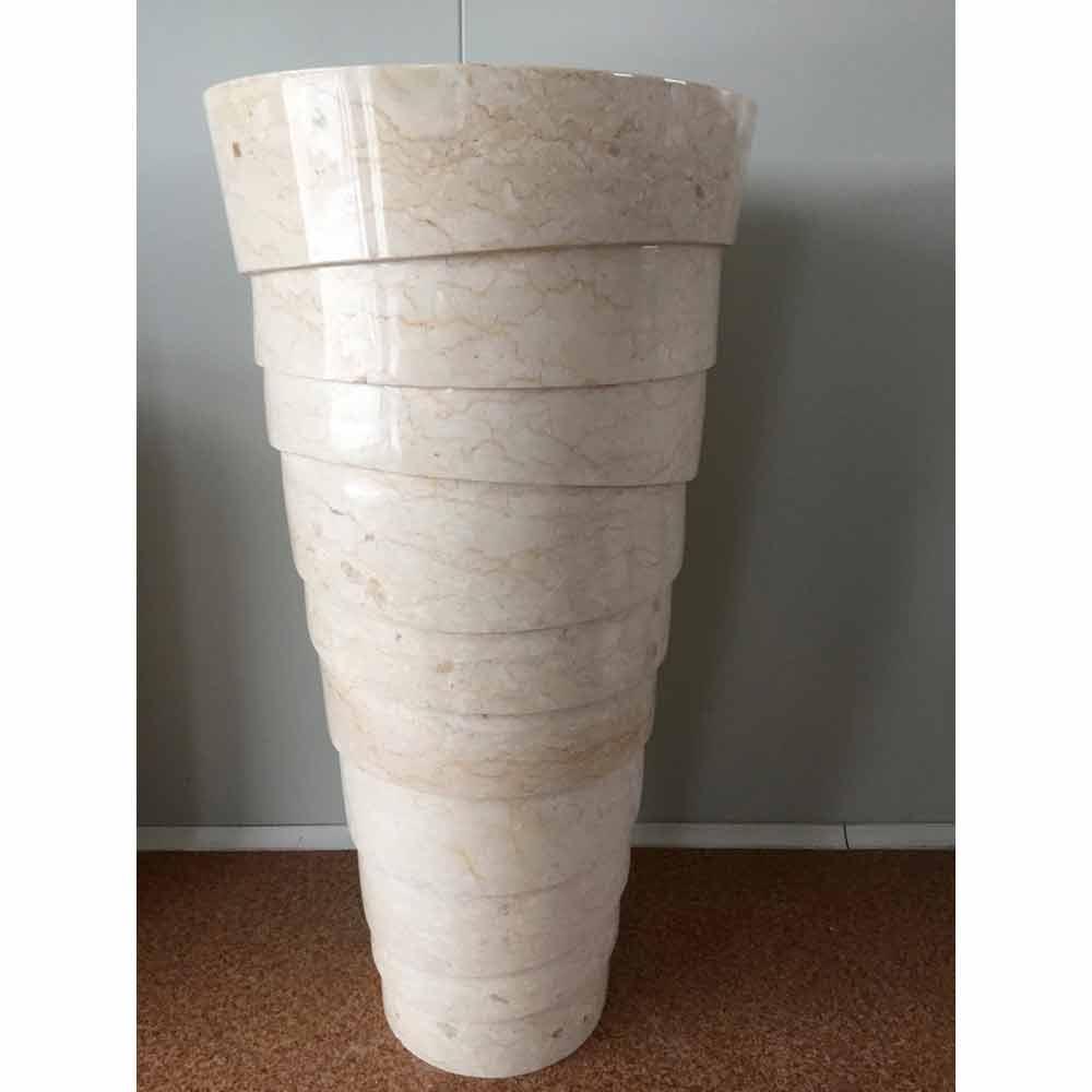 Lavabo A Colonna Design lavabo a colonna design per bagno in pietra bianca brent, pezzo unico