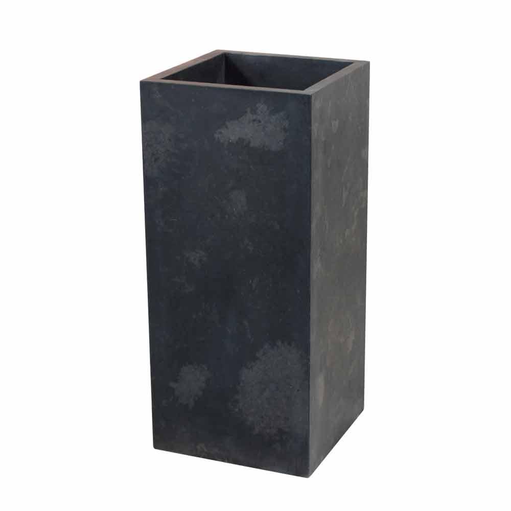 Lavabo a colonna in pietra naturale nero modello balik for Lavabo a colonna