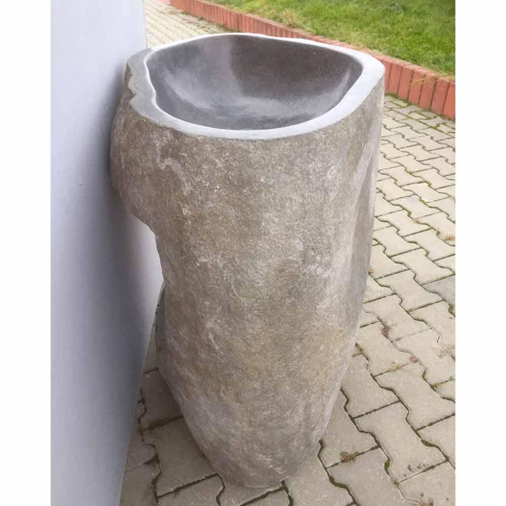 Lavabo A Colonna Design lavabo bagno design a colonna in pietra naturale mare, pezzo unico
