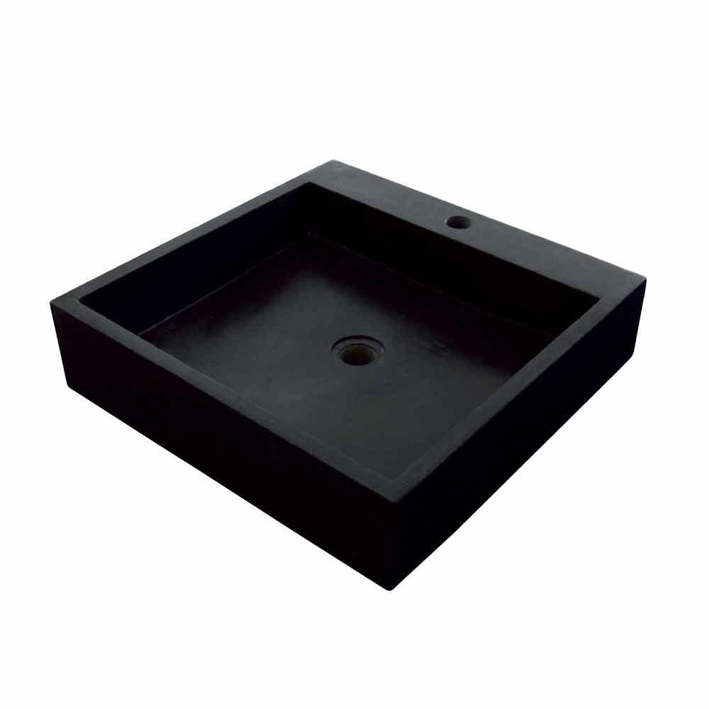lavandino quadrato da appoggio in basalto modello ban. Black Bedroom Furniture Sets. Home Design Ideas