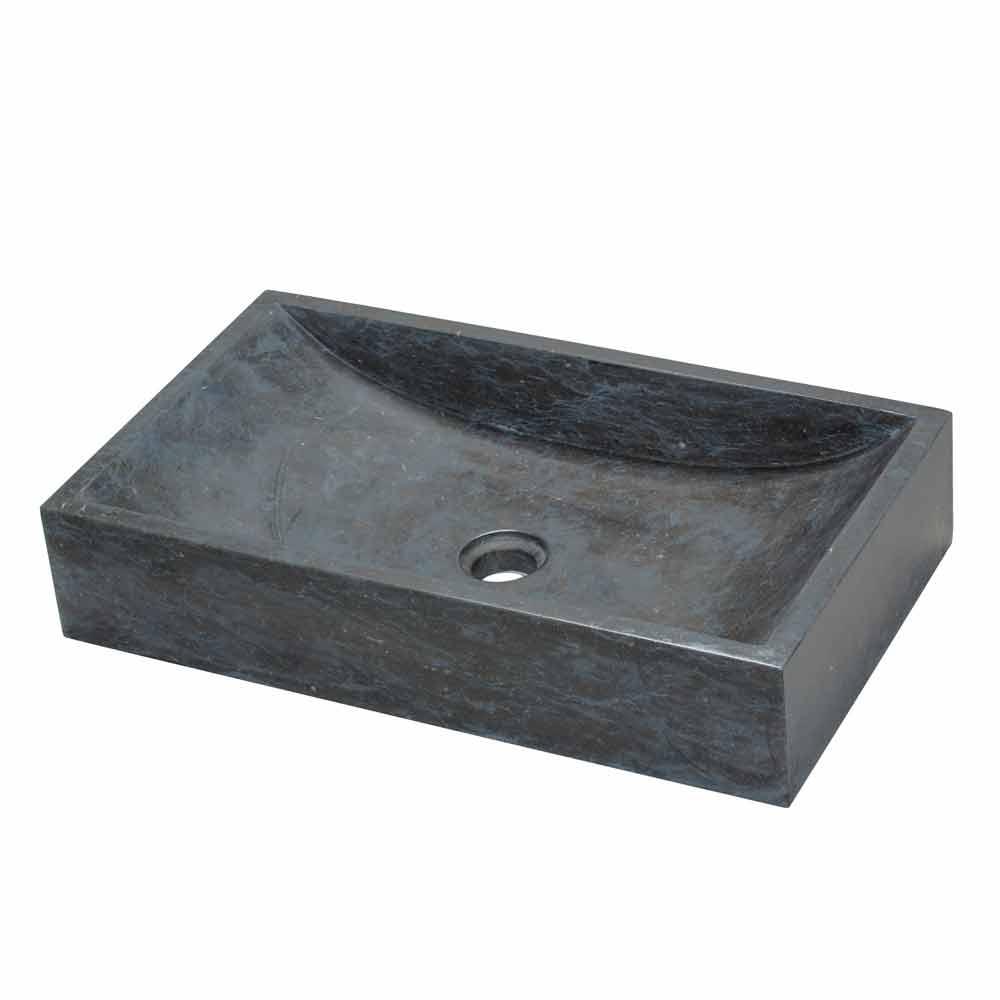 Lavabo da appoggio in marmo nero naturale satun - Lavabo pietra bagno ...