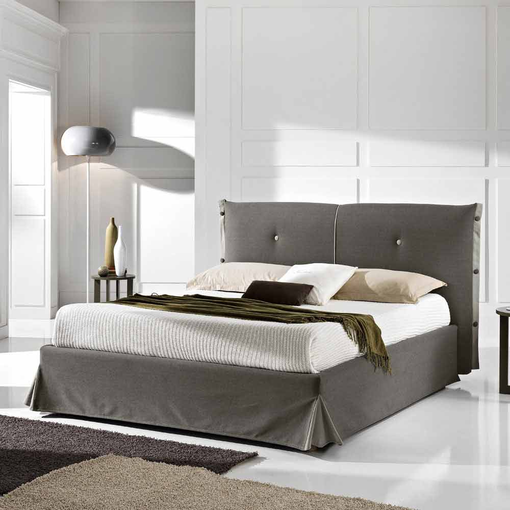 Letto matrimoniale sfoderabile con box 160x190/200 cm Roby made Italy