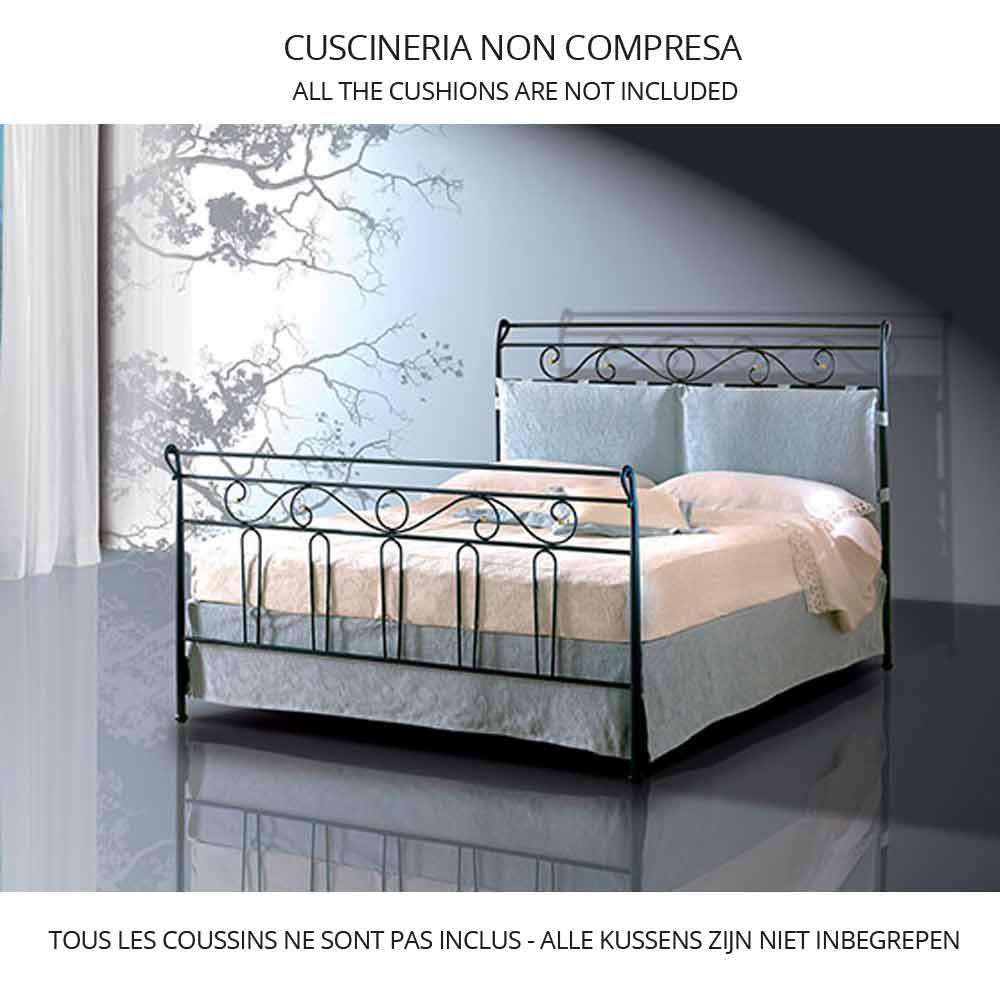 Letto singolo in ferro battuto garofano viadurini - Camera da letto ferro battuto ...
