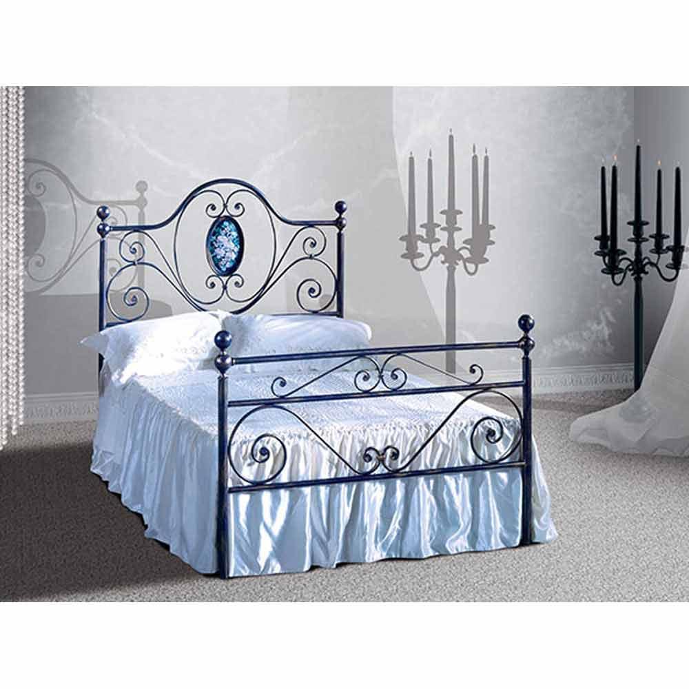 Letto una piazza e mezzo in ferro battuto altea viadurini collezione notte - Spalliere letto in ferro battuto ...