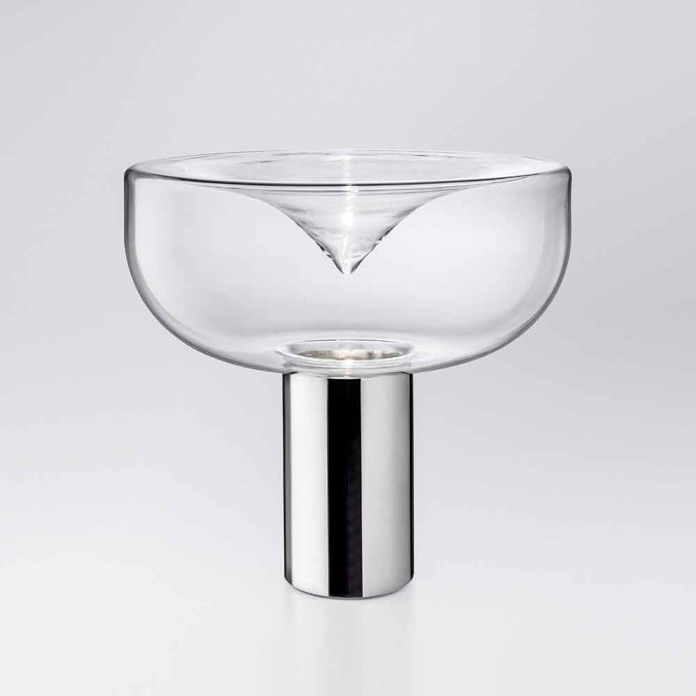 Leucos aella lampada da tavolo moderna in vetro cristallo a led rgb - Lampada da tavolo moderna ...