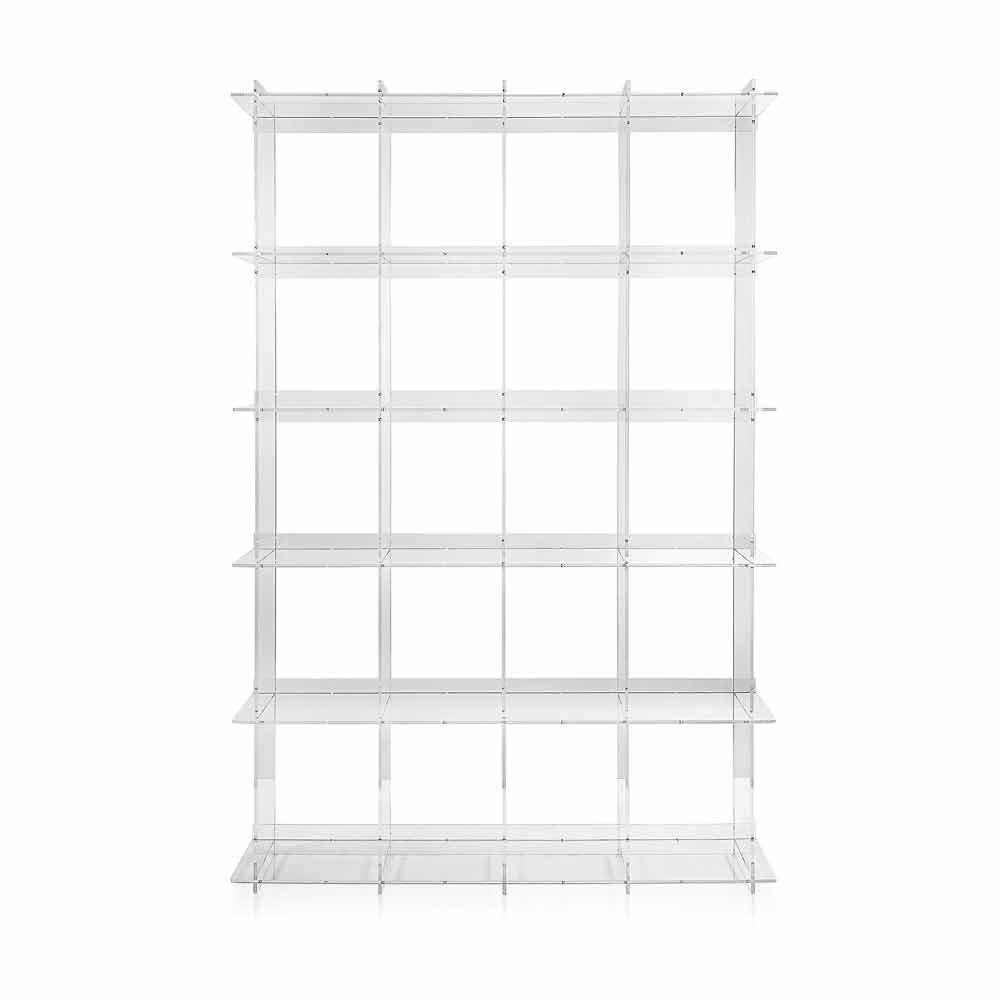 Libreria a muro design moderno in plexiglass trasparente - Mobili in plexiglass ...