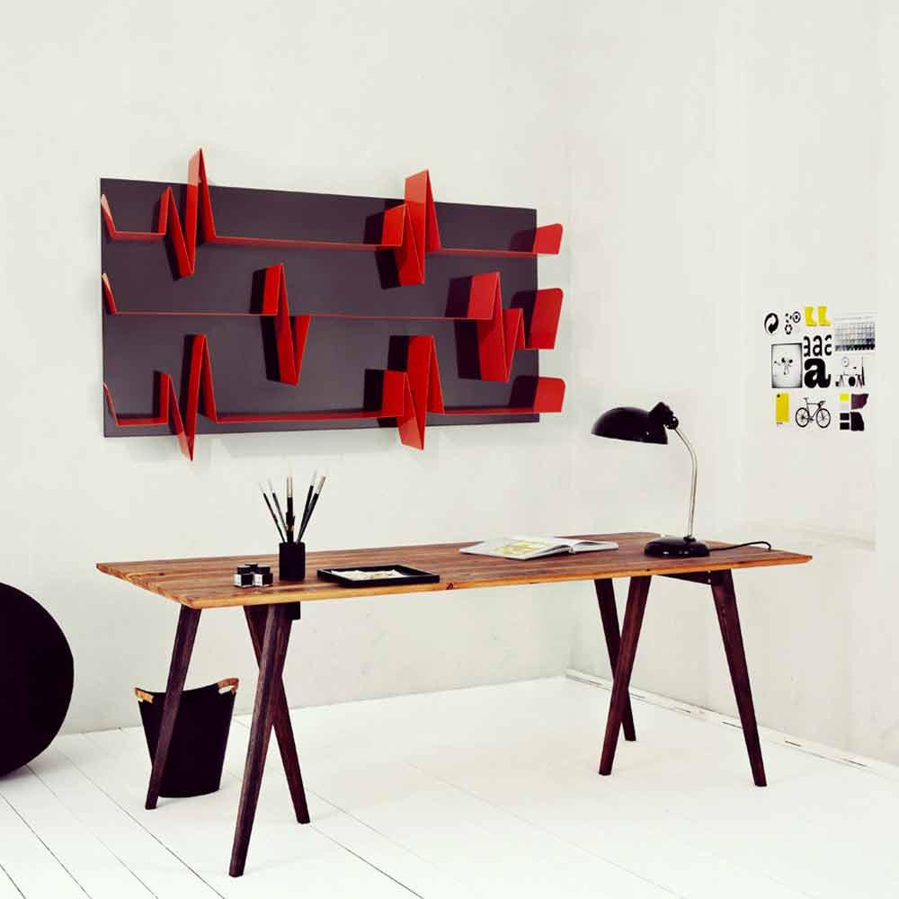 Libreria design in metallo modello battikuore a prezzi for Libreria design