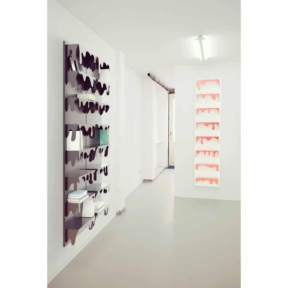 Libreria da muro design kolata misure 50x127 a prezzi scontati for Libreria design