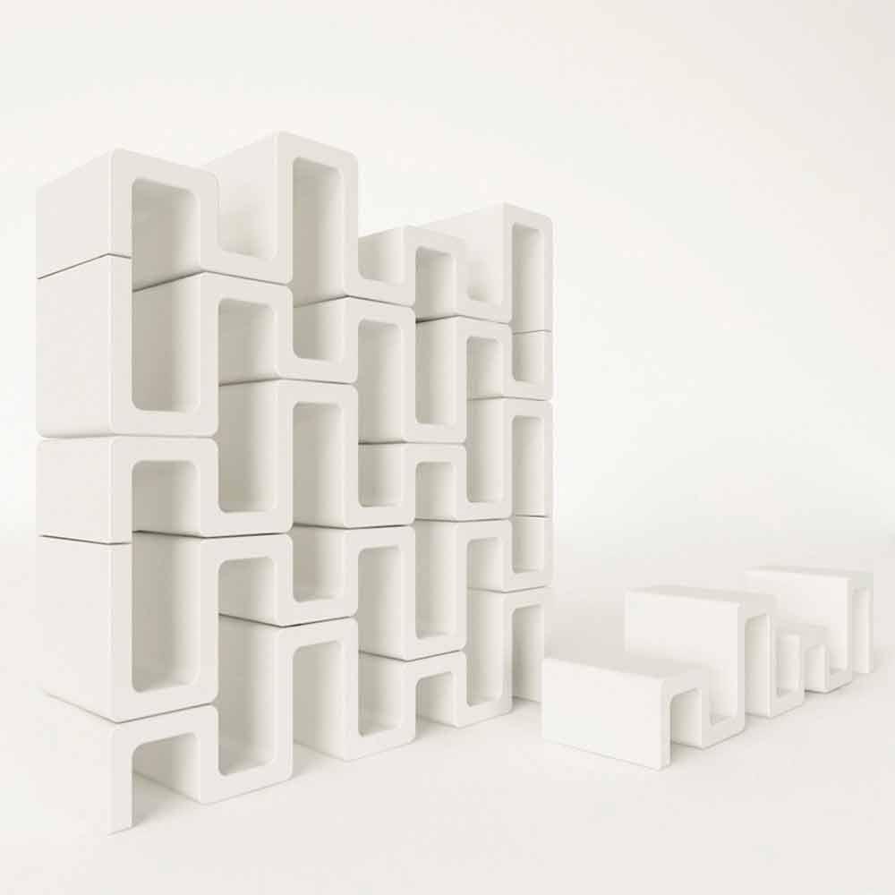 Libreria da parete design moderno Sisma Made in Italy in offerta