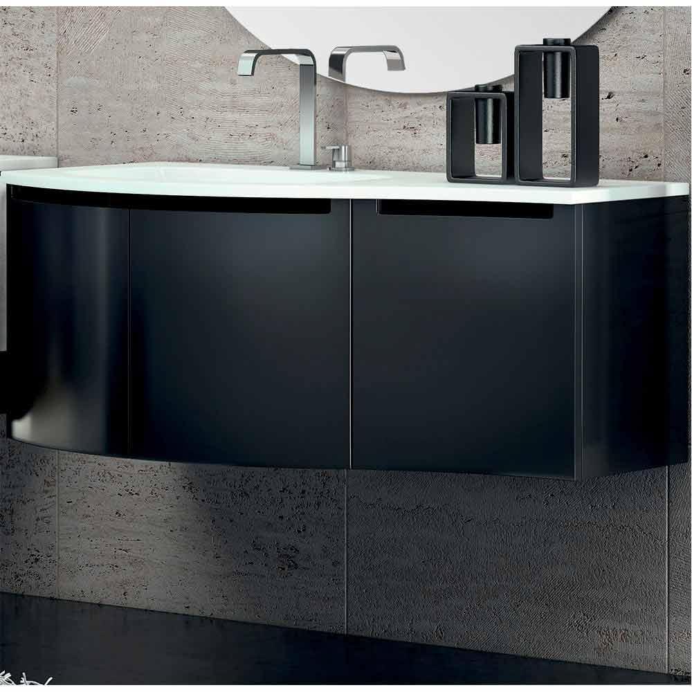 Mobile bagno moderno con lavabo a tre ante in legno for Mobile bagno moderno legno