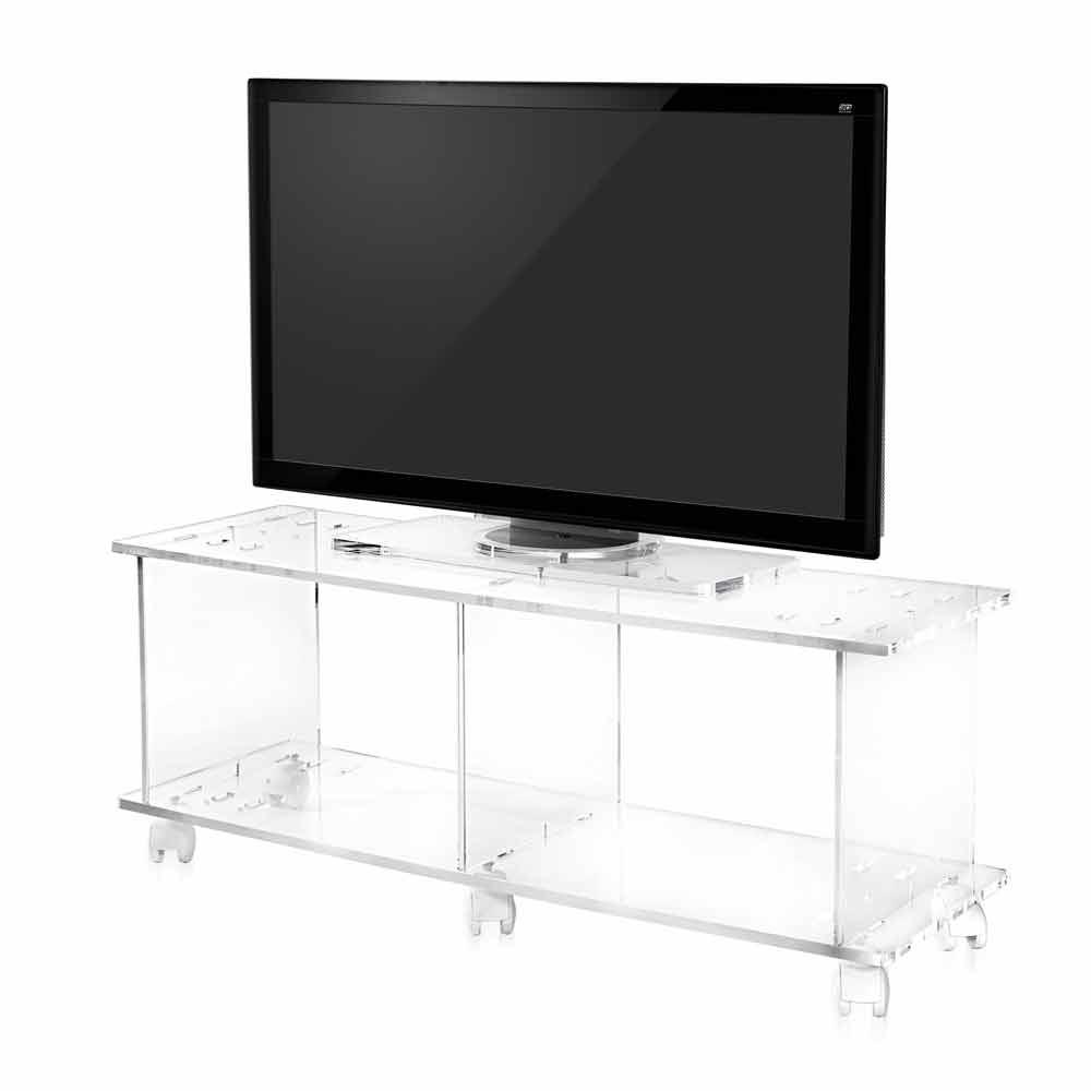 Mobile porta tv design moderno in plexiglass trasparente mago - Mobile porta tv moderno design ...