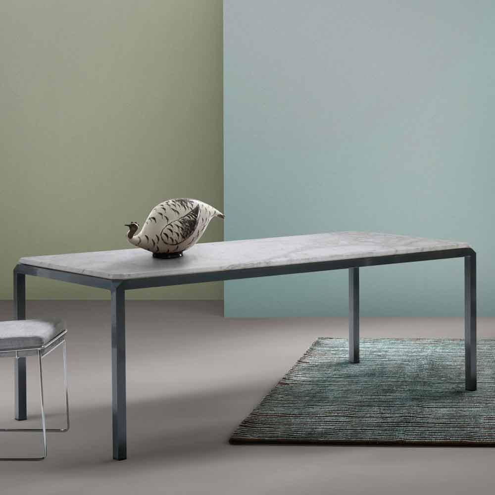 My home bebop tavolo di design marmo bianco h74xl210cm for Tavolo marmo design