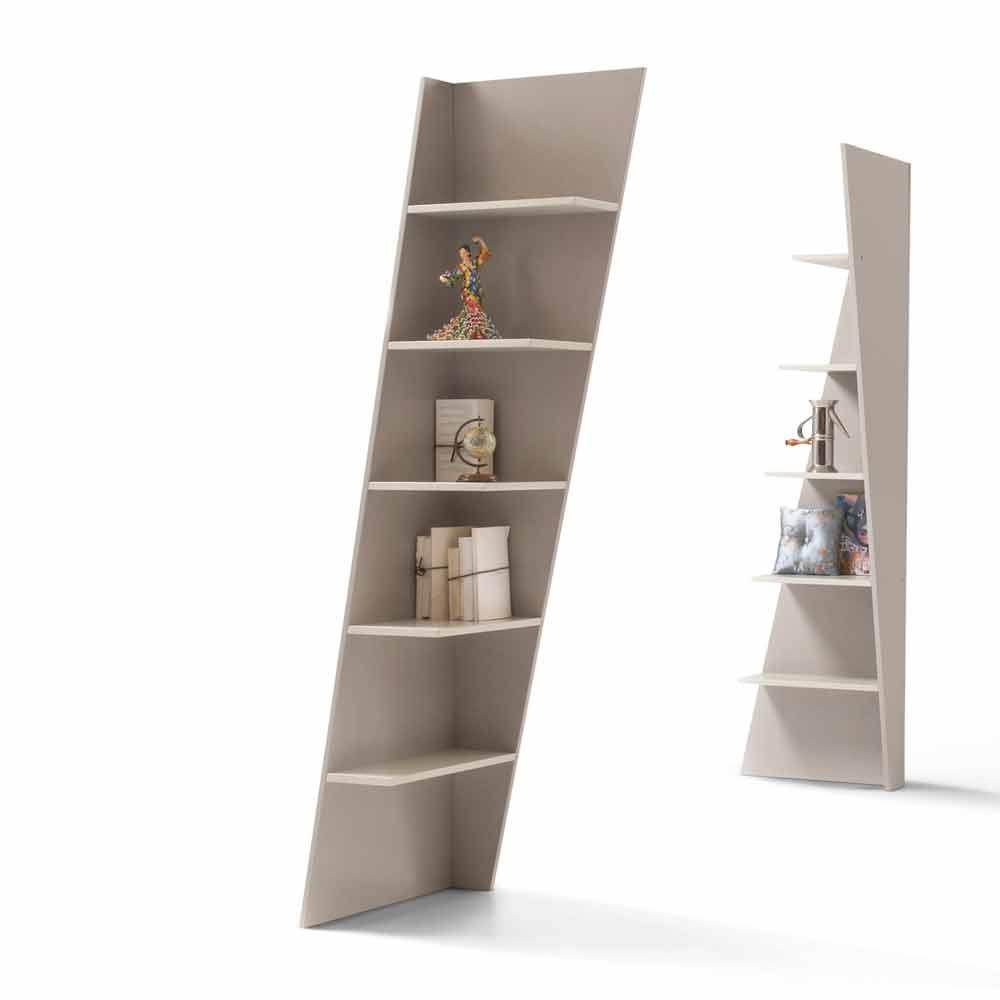 My Home Esquina libreria angolare design MDF laccato H220cm made Italy