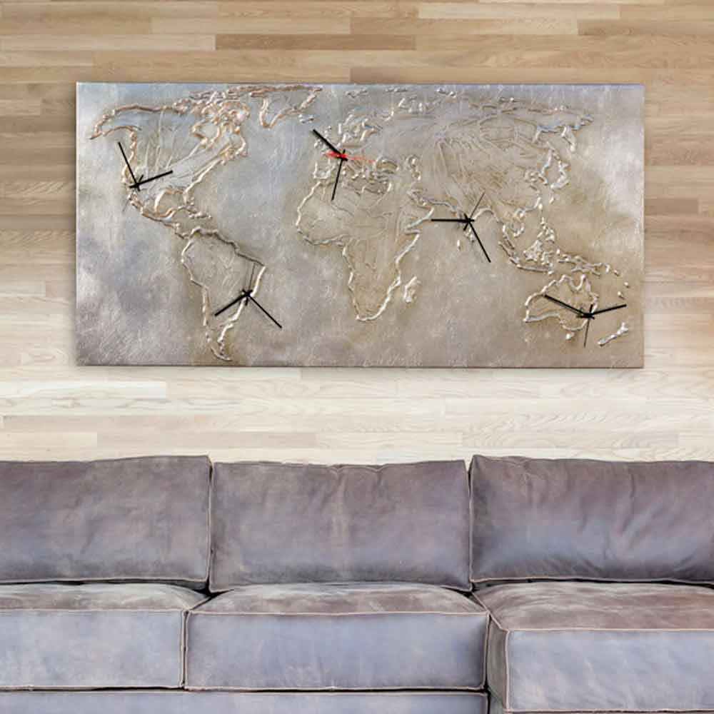 Tavoli legno iroko - Orologi da parete moderni grandi ...