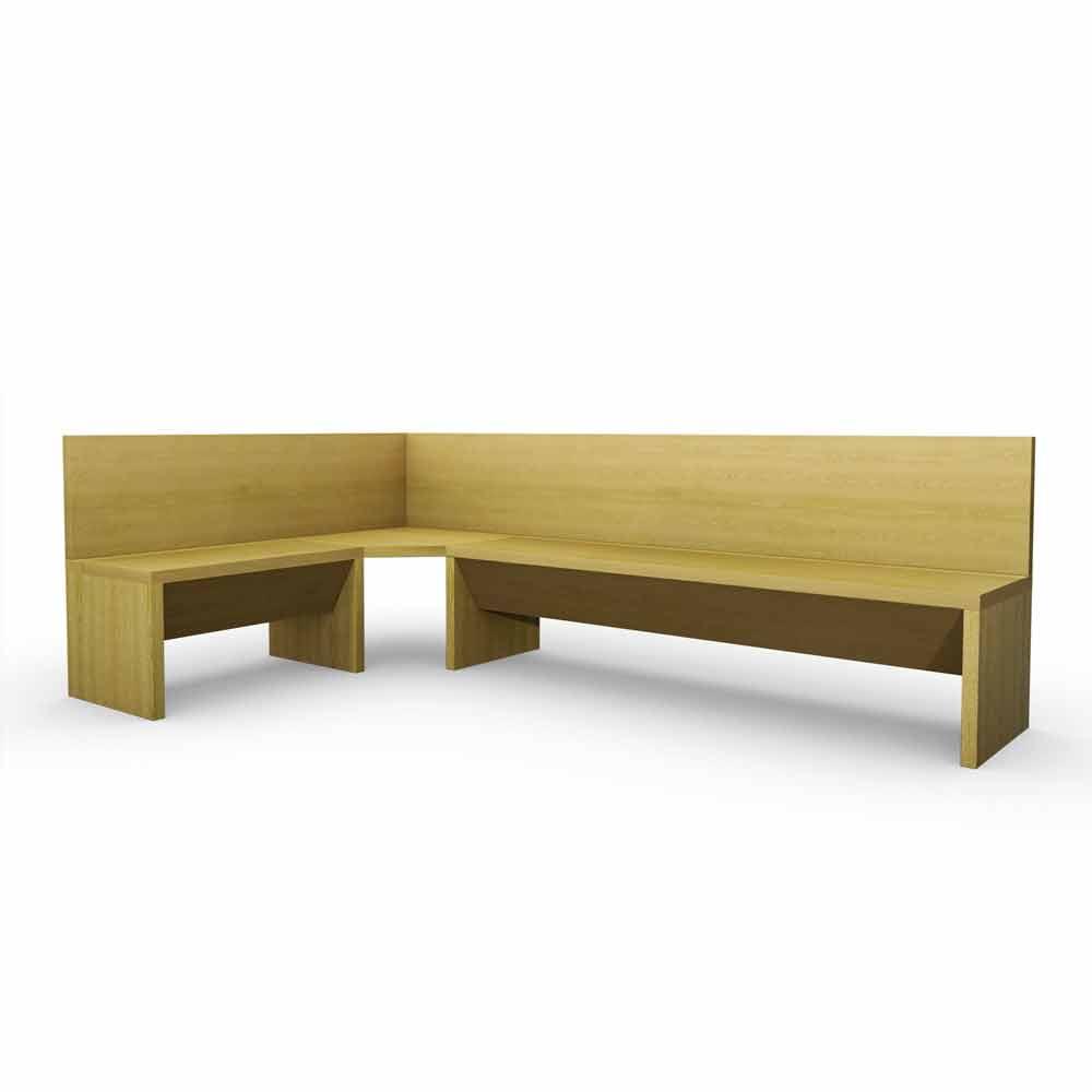 Panca angolare per cucina panche in legno usate tavoli in - Tavolo con panca ad angolo moderno ...