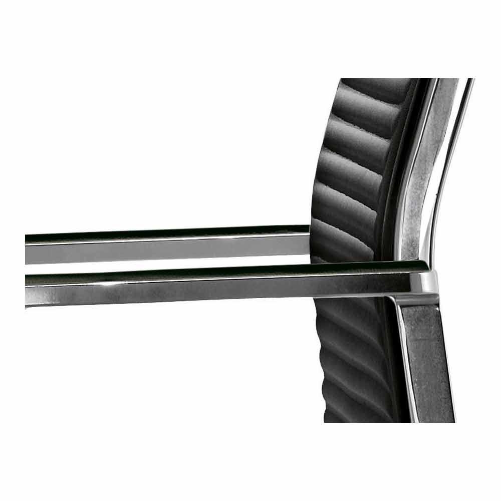Poltrona da ufficio ergonomica in pelle o tessuto nulite for Poltrona ufficio