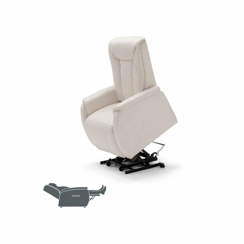 Poltrone Relax Di Design.Poltrona Relax Alzapersona A 2 Motori Di Design Rosa Made In Italy