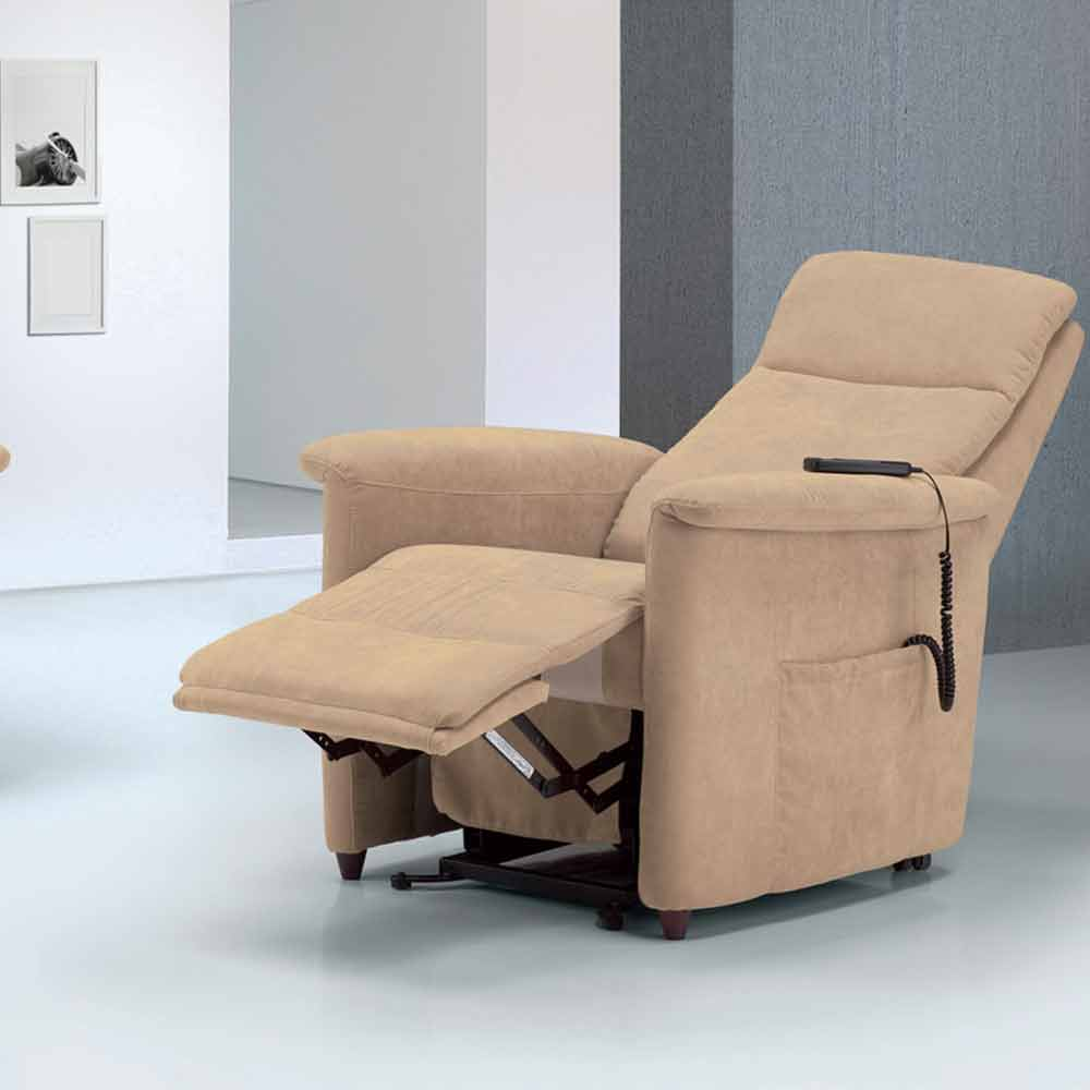 Poltrona relax alzapersona di design via firenze 2 motori for Poltrona alzapersona