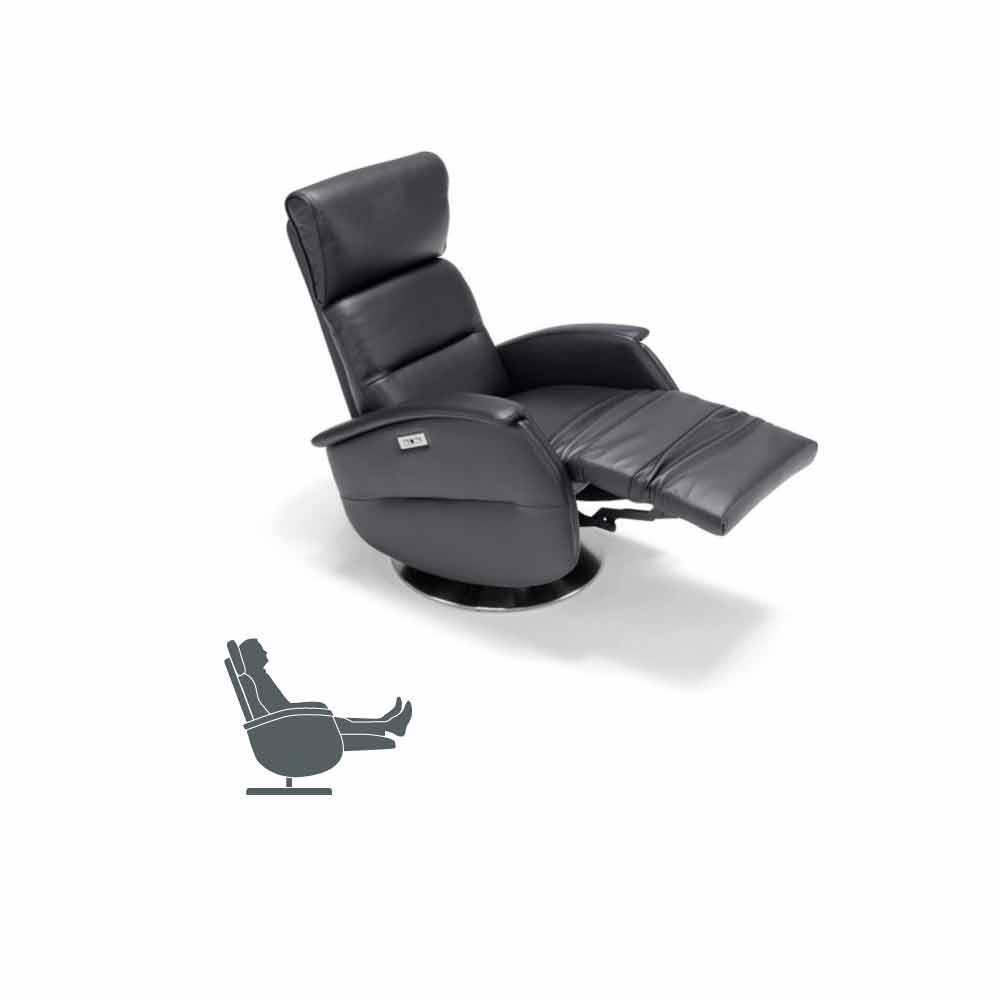 Poltrone Relax Motorizzate.Poltrona Relax Motorizzata Girevole In Tessuto Pelle Ecopelle Gemma