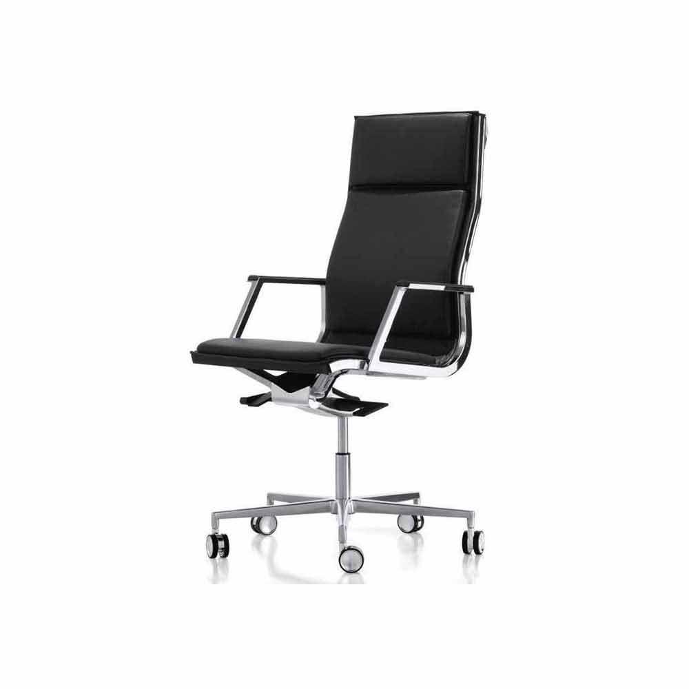Poltrona ufficio ergonomica di design con braccioli Nulite Luxy