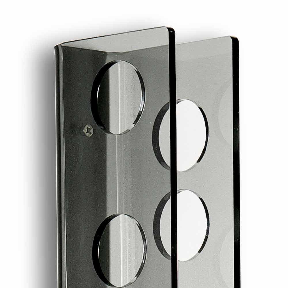 Porta Bottiglie Da Muro Fume Baby Small L6xh60xp11cm Design Moderno