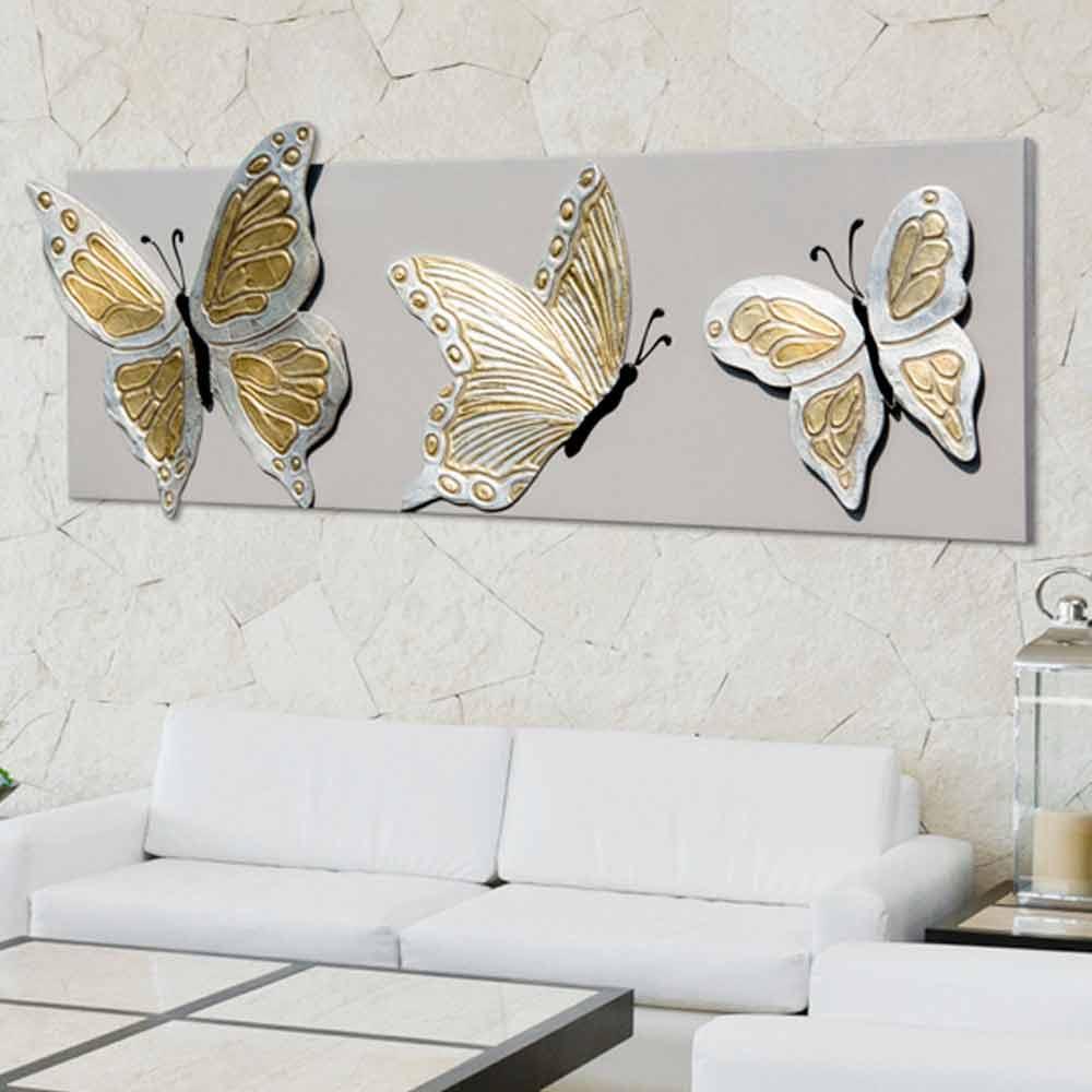 Quadri Per Bagno Moderno quadro moderno con tre farfalle in rilievo decorate a mano stephen