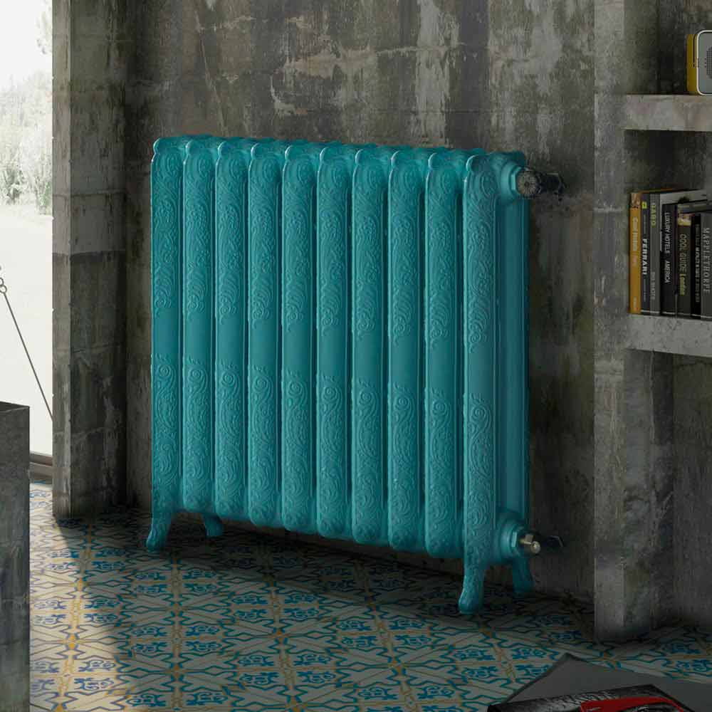 Radiatore termoarredo idraulico in ghisa decorato tiffany for Scirocco termosifoni