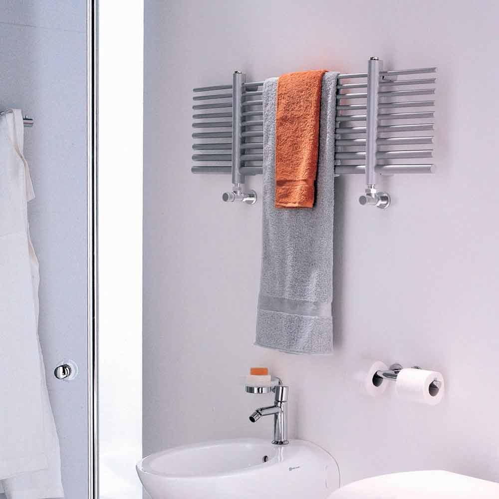 Scaldasalviette elettrico orizzontale selene made in italy - Termosifone elettrico a parete ...