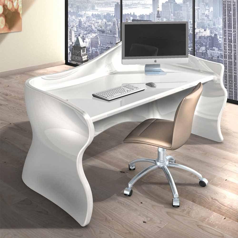 Scrivania moderna da ufficio velo realizzata in italia for Design ufficio scrivania